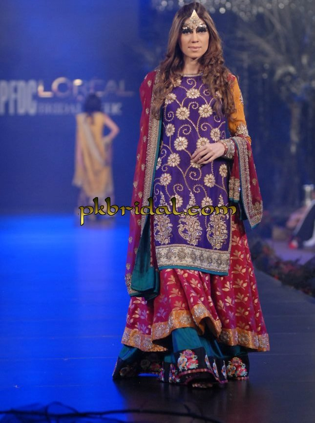 Pakistani Off White Bridal Gown Lehenga