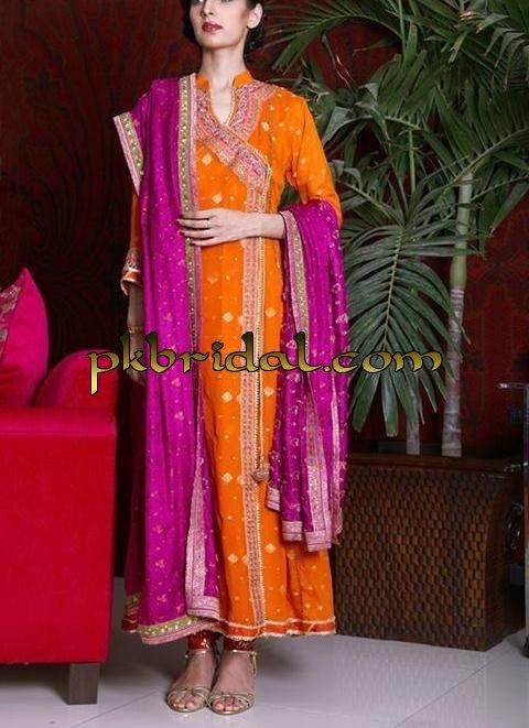 Mehndi Menswear : Mehndi dresses pakistani wedding dressess party