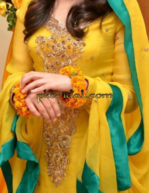 Mehndi Menswear : Latest mehndi ladies dresses best mayoon outfits designs