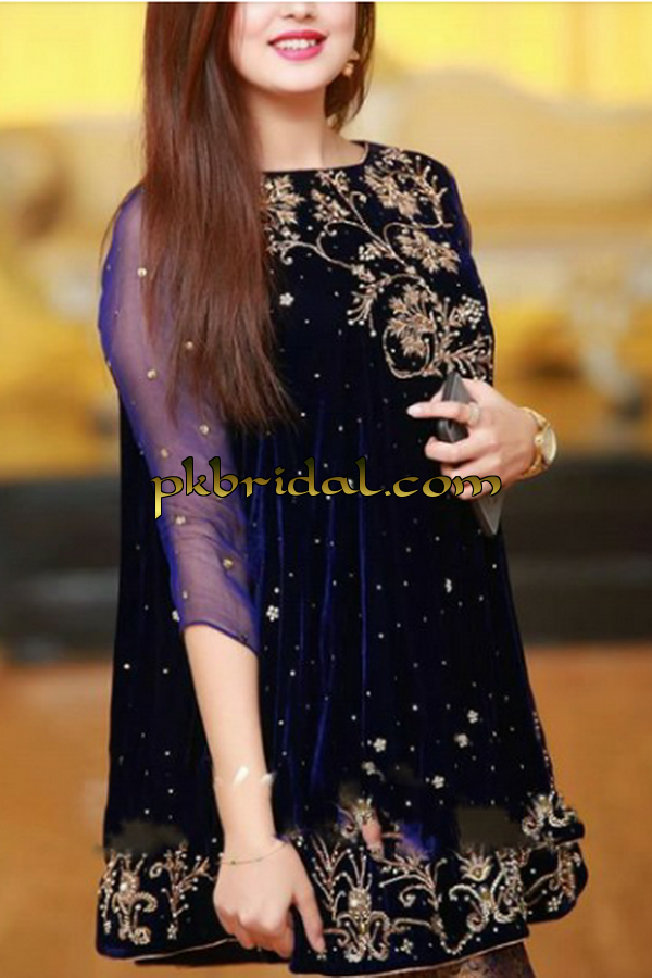 Pakistani Designer Fully Embroidered Cute Party Wear Dress