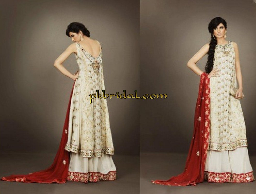 latest pakistani designer party wear dresses online 2014
