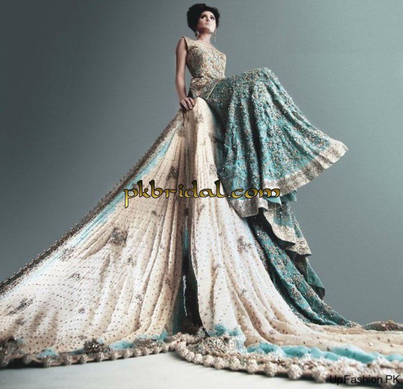 Pakistani designer traditional princess wedding dress for Romanian wedding dress designer