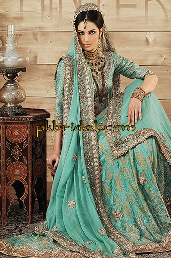 long turquoise wedding dress  pletely embrodiered