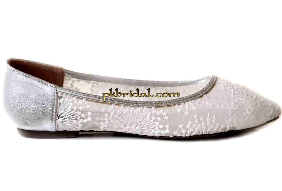 Cute Silver Heels For Wedding