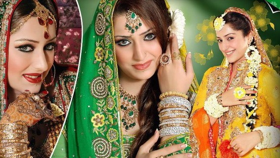 Mehndi Clothes For Brides : Latest mehndi ladies dresses best mayoon outfits designs
