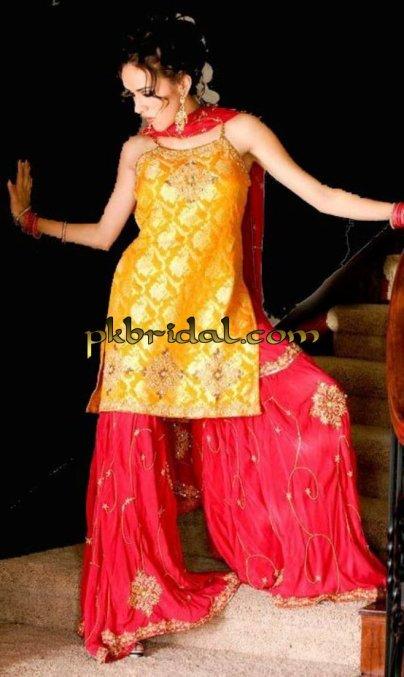 Red Bridal gharara