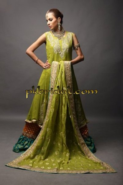 Green Bridal gharara