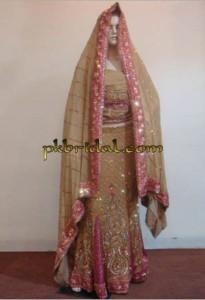 Golden Bridal Lehenga