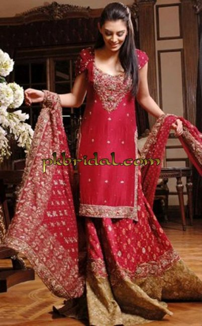 Red Golden Bridal Lehenga
