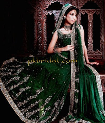 Emerald Green Bridal Dresses With Lehenga For Sale
