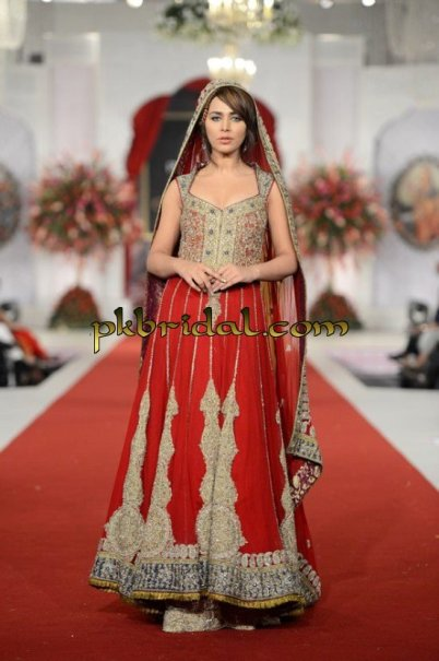 Traditional Red Bridal Sharara