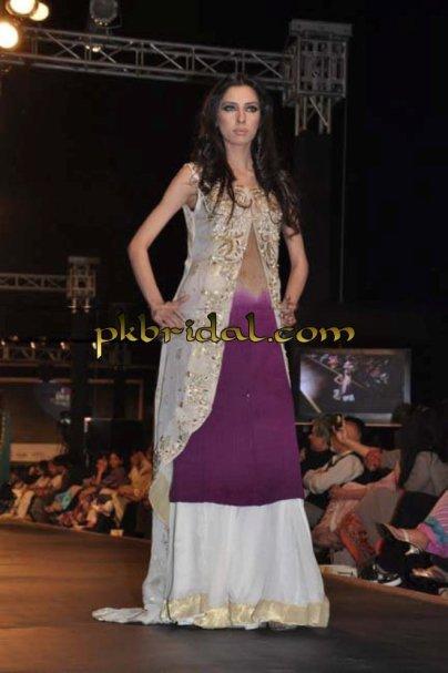 Purple bridal Sharara