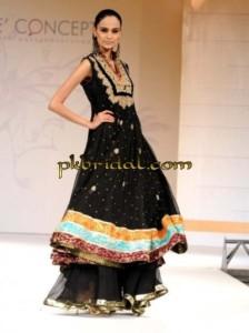 Black Bridal Sharara