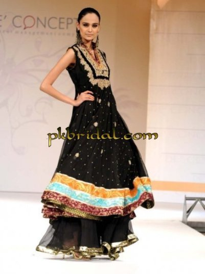 Black Bridal Sharara