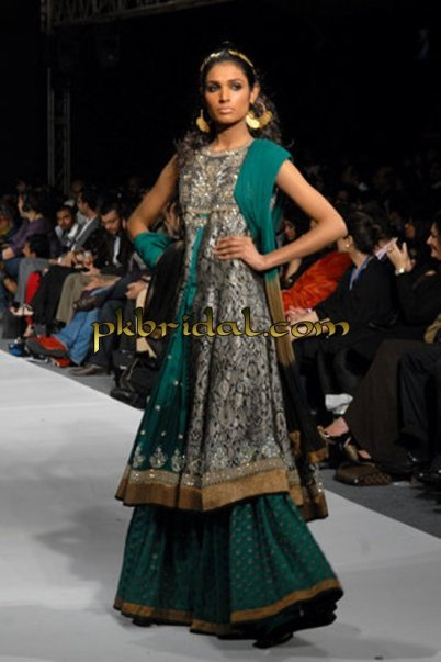 Green Bridal Sharara