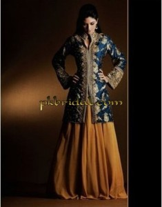 Brown Bridal Sharara