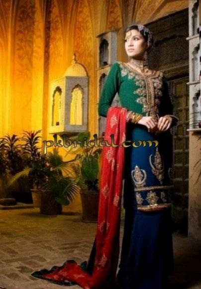 Blue Bridal Sharara