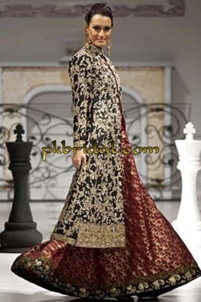 Brown Bridal Sharara