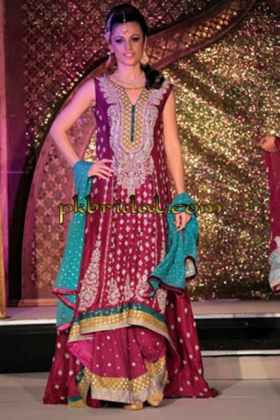 Red Bridal Sharara