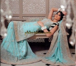 Sky Blue Bridal Sharara