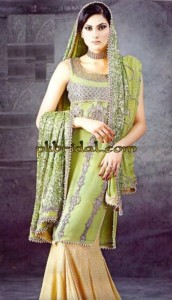 Embroidered Bridal Sharara