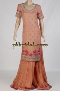 Peach Bridal Sharara
