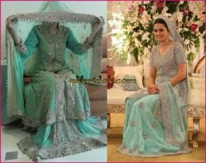 Sea Green Bridal Sharara