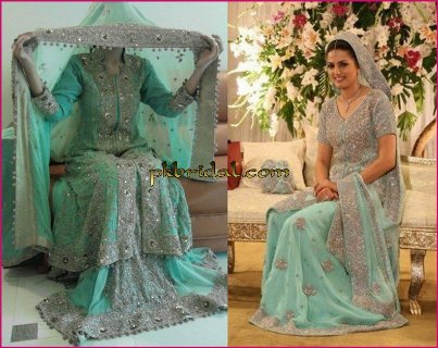 Sea Green Bridal Sharara