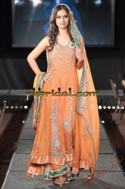 Orange Bridal Sharara