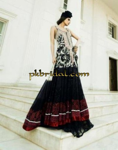 Embroidered Evening Wear Dress