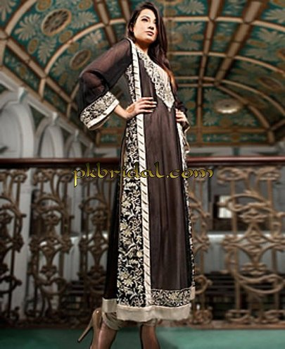 Chiffon Evening Dress with Sleeves