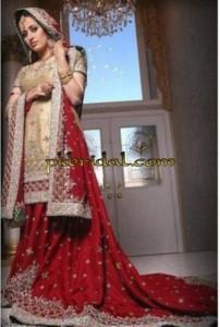 Red Embellished Bridal Dress
