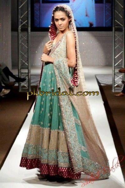 Sea Green Bridal Suit