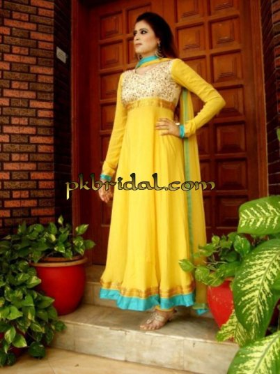 Yellow Mehndi Suit