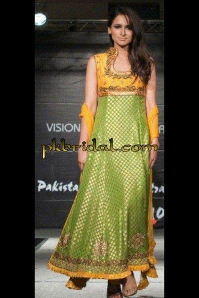 Green Mehndi Wear