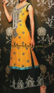 Golden Yellow Mehndi DRess