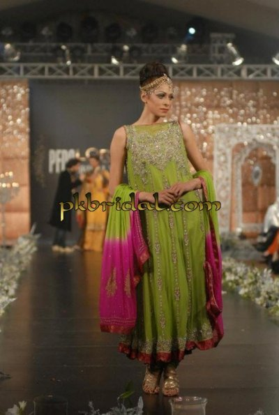 Mehndi Green Dress