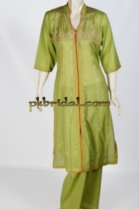 Green Mehndi Dress