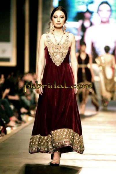 Maroon Party Wear Dress