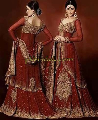 Mughlai Red Bridal Suit