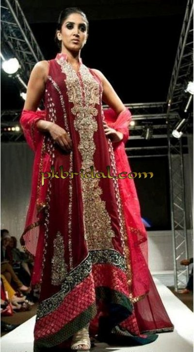 Maroon Bridal Dress