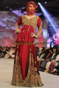 Deep Red Bridal Dress