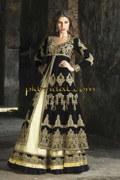 Black Embroidered Party Wear