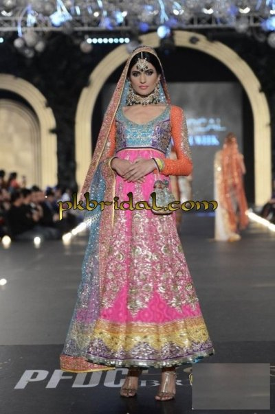 Pink Heavy Bridal Dress