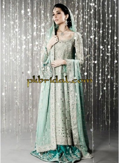 Pakistani heavy embroidered bridal wear dress for Online pakistani wedding dresses