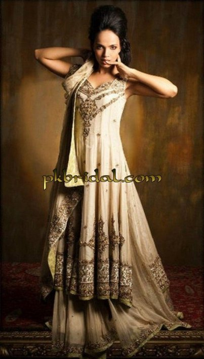 Beige Bridal wear Suit