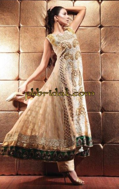 Beige Party wear Dress