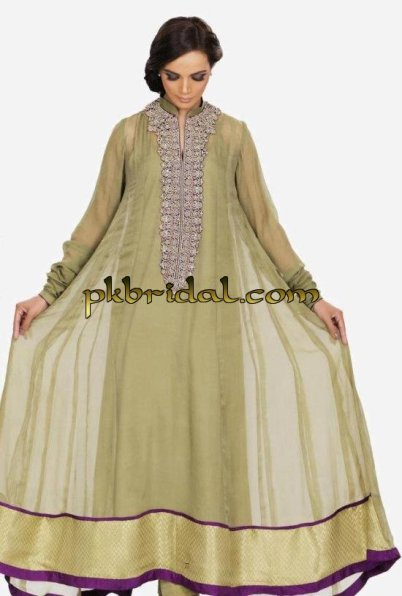 Pakistani Designer Embroidered Frock Style Party Wear Dress