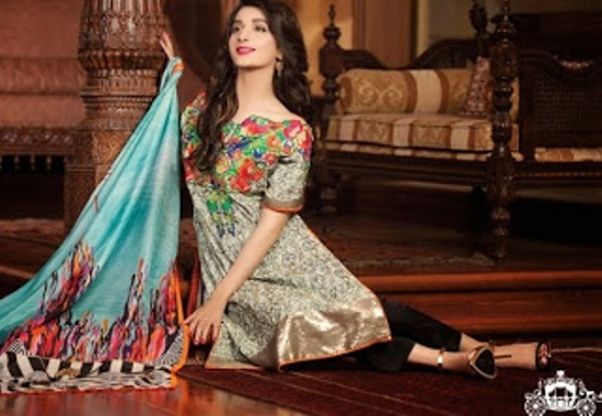 Lakhani Rosette Embroidered Lawn