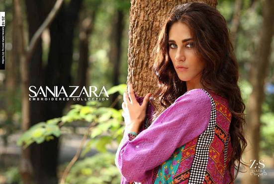 Sania Zara Embroidered Lawn